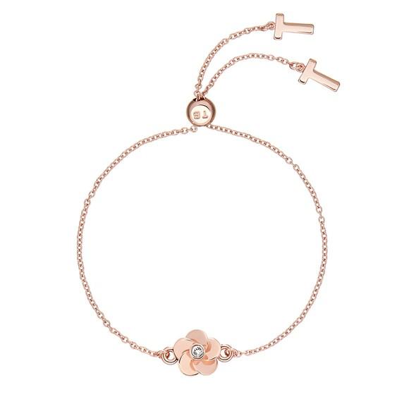 Ted Baker Womens Pink Pelanna Flower Drawstring Bracelet
