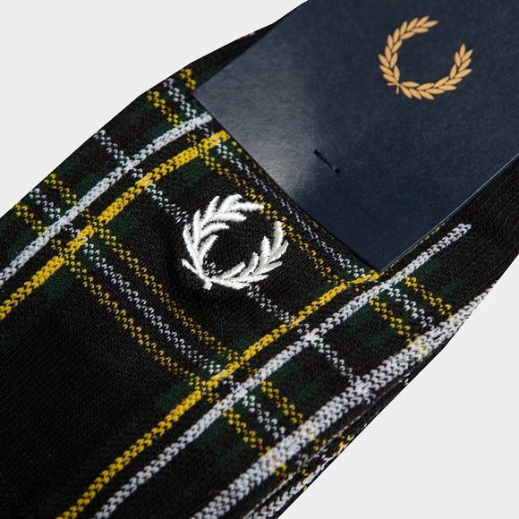 Fred Perry Mens Black Stewart Tartan Sock