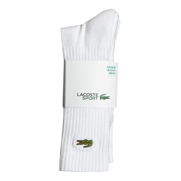 Lacoste Sport Mens White 3 Pack Socks