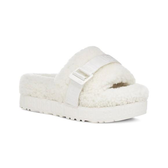Ugg Womens White Fluffita Slipper