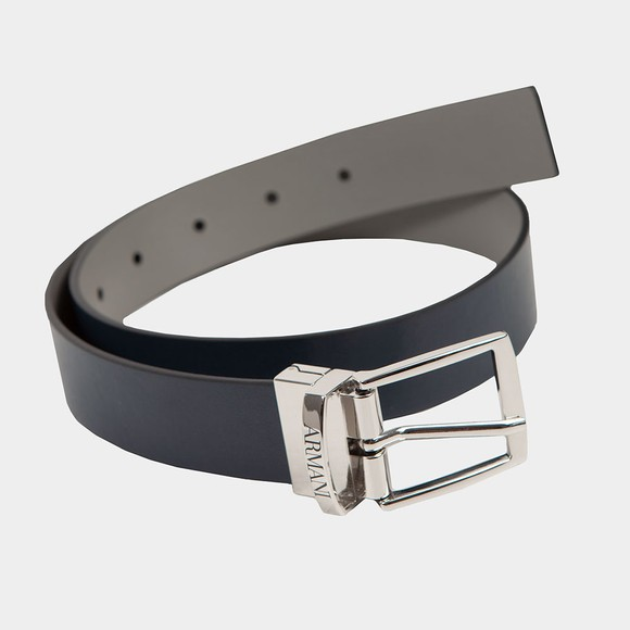 Emporio Armani Boys Blue Reversible Leather Belt