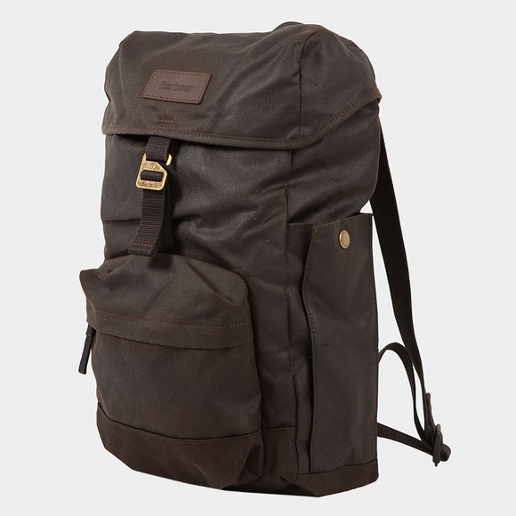 Barbour Lifestyle Mens Green Essential Wax Backpack