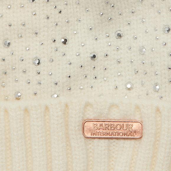 Barbour International Womens White Podium Beanie main image