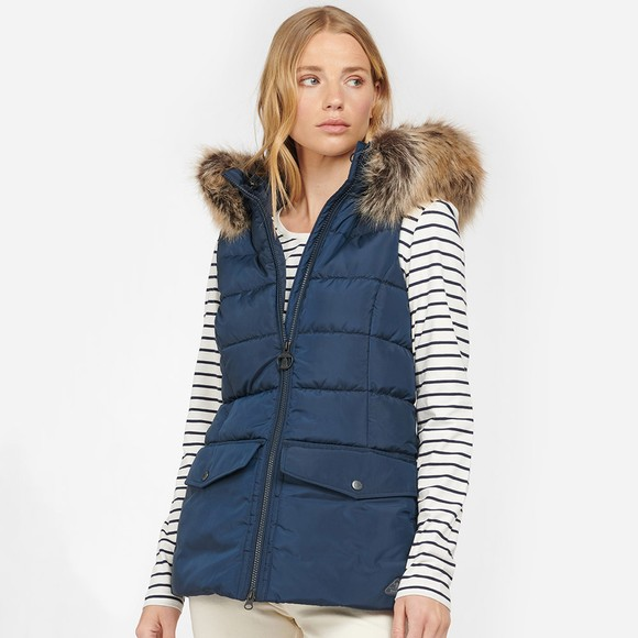 Barbour Lifestyle Womens Blue Bayside Gilet