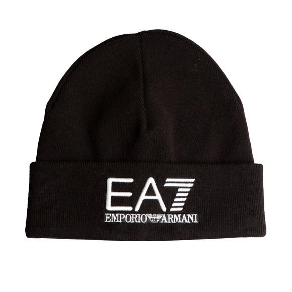 EA7 Emporio Armani Mens Black Knitted Beanie