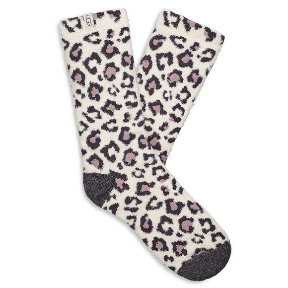Ugg Womens Off-White Leslie Graphic Crew Sock