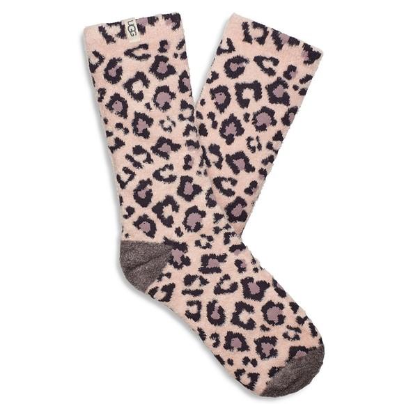 Ugg Womens Pink Leslie Graphic Crew Sock
