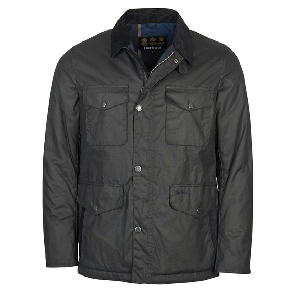 Barbour Lifestyle Mens Blue Fawden Wax Jacket