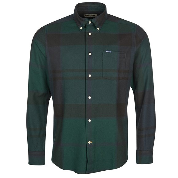 Barbour Lifestyle Mens Green Dunoon Shirt