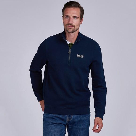 Barbour International Mens Blue 1/2 Zip Sweatshirt