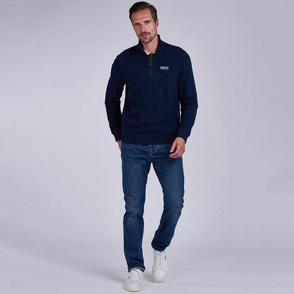 Barbour International Mens Blue 1/2 Zip Sweatshirt main image