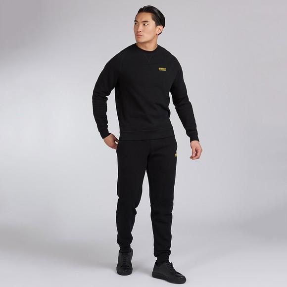 Barbour International Mens Black Essential Crew Sweatshirt main image