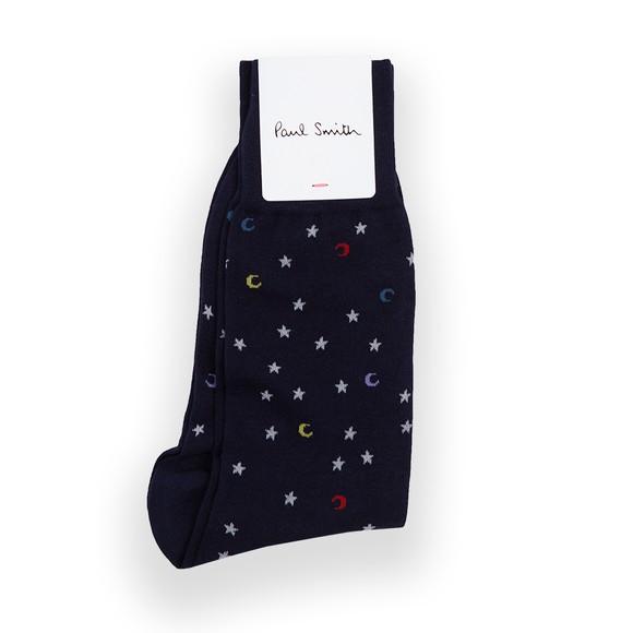 Paul Smith Mens Blue Moon & Stars Sock