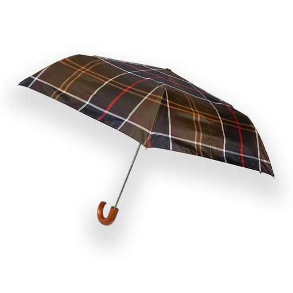 Barbour Lifestyle Mens Red Tartan Mini Umbrella