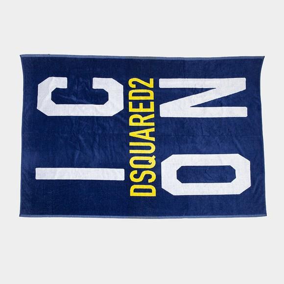 Dsquared2 Mens Blue Beach Towel