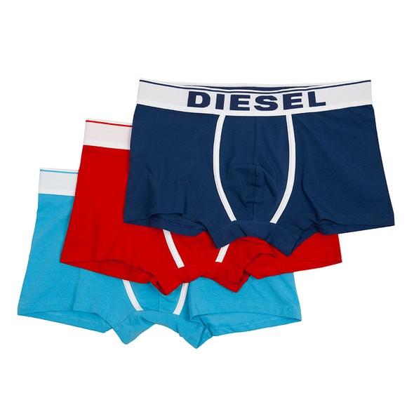 Diesel Mens Blue Damien 3 Pack Boxer