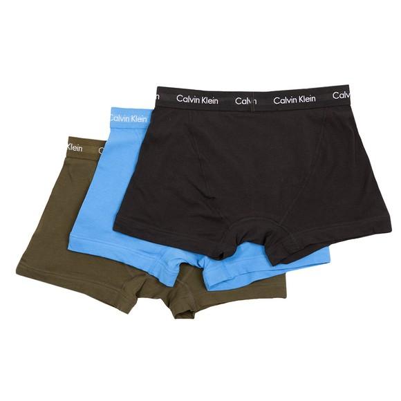Calvin Klein Mens Black 3 Pack Trunks