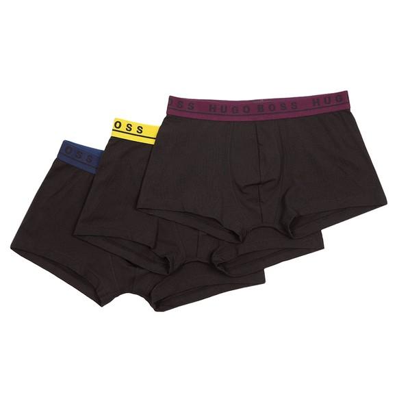 BOSS Bodywear Mens Black 3 Pack Trunk