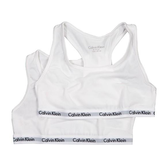 Calvin Klein Girls White 2 Pack Bra