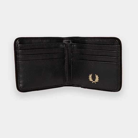 Fred Perry Mens Black Arch Billfold Wallet main image