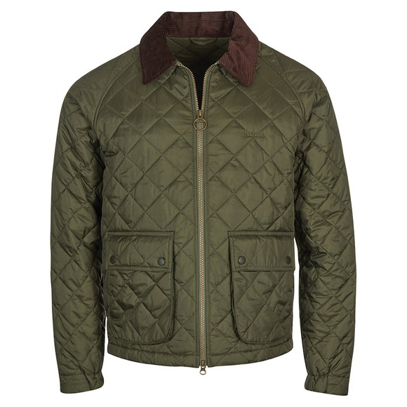 Barbour Lifestyle Mens Green Dom Quilt Jacket main image