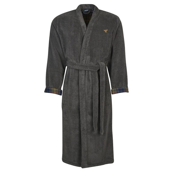 Barbour Lifestyle Mens Grey Lachlan Dressing Gown