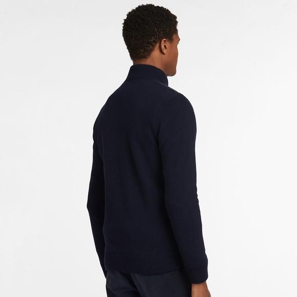 Barbour Lifestyle Mens Blue Arch Diamond Quilt Knit main image