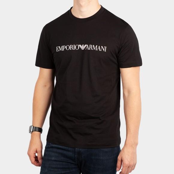 Emporio Armani Mens Black Essential Logo T-Shirt main image