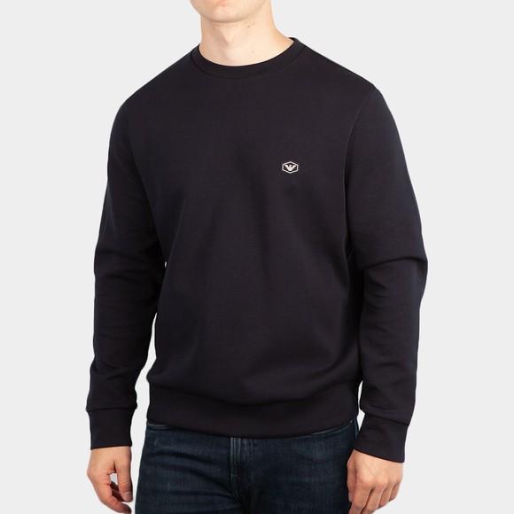 Emporio Armani Mens Blue Essential Diamond Logo Sweatshirt