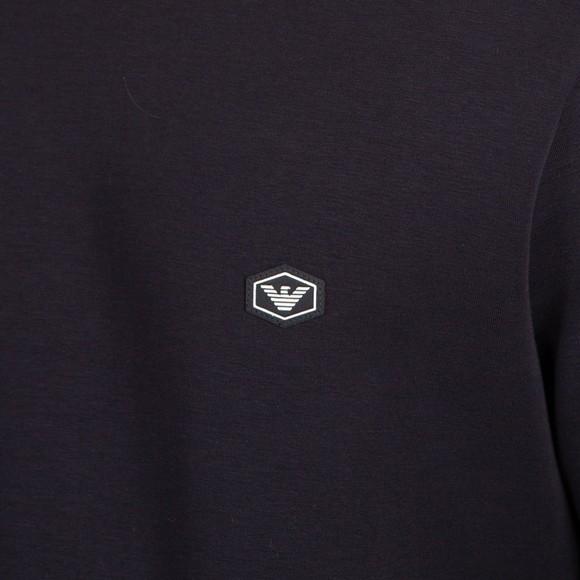 Emporio Armani Mens Blue Essential Diamond Logo Sweatshirt main image