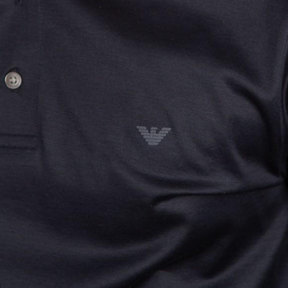 Emporio Armani Mens Blue Essential Pima Polo Shirt main image