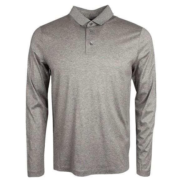 Emporio Armani Mens Grey Essential Pima Polo Shirt