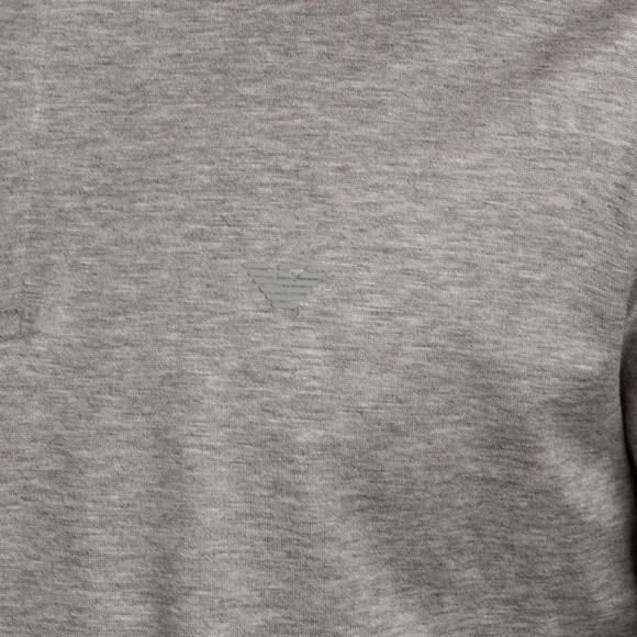 Emporio Armani Mens Grey Essential Pima Polo Shirt main image