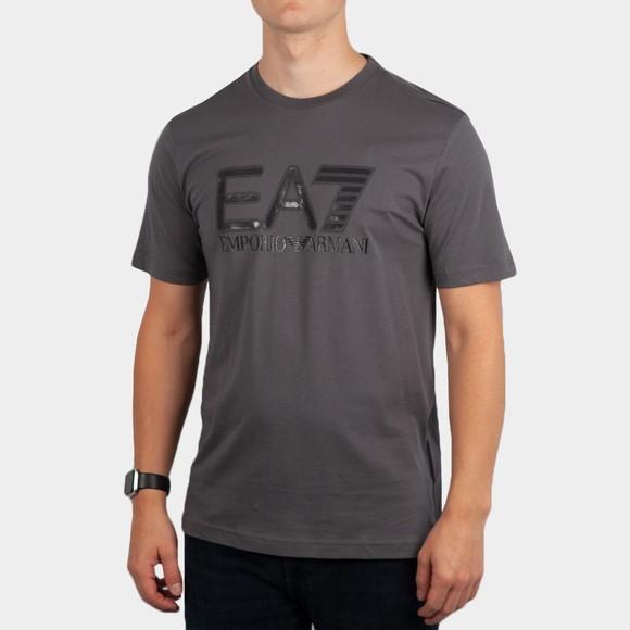 EA7 Emporio Armani Mens Grey Big Logo T-Shirt