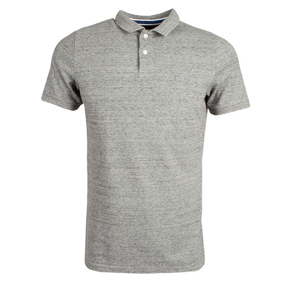 Superdry Mens Grey Classic Pique Polo Shirt main image