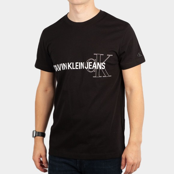 Calvin Klein Jeans Mens Black Seasonal Logo T-Shirt