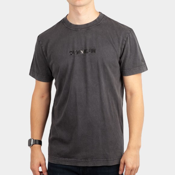 Calvin Klein Jeans Mens Black Washed Logo T-Shirt