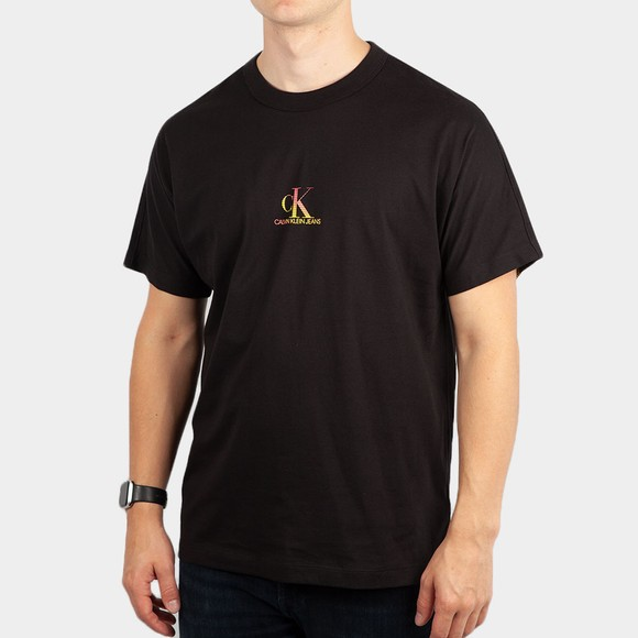 Calvin Klein Jeans Mens Black Gradient Back Logo T-Shirt
