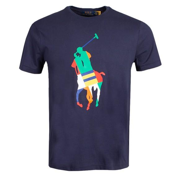 Polo Ralph Lauren Mens Blue Large Pony Multi T Shirt