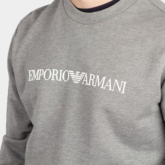 Emporio Armani Mens Grey Logo Sweatshirt main image