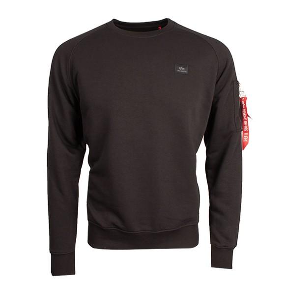 Alpha Industries Mens Black X-Fit Sweatshirt