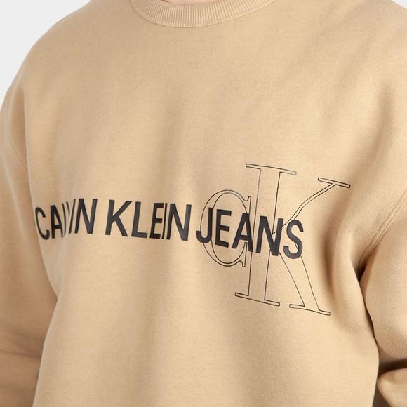 Calvin Klein Jeans Mens Beige Seasonal Logo Sweatshirt main image