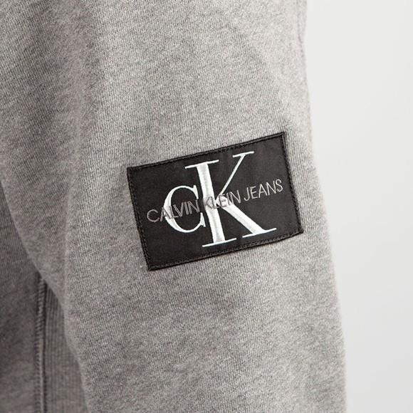 Calvin Klein Jeans Mens Grey Sleeve Badge Crew Sweatshirt main image
