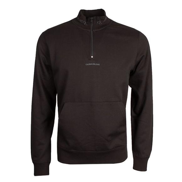 Calvin Klein Jeans Mens Black Jacquard 1/2 Zip Sweatshirt