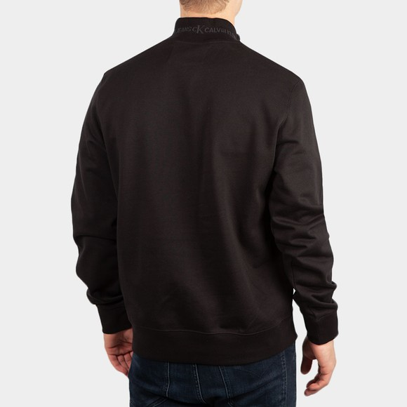 Calvin Klein Jeans Mens Black Jacquard 1/2 Zip Sweatshirt main image