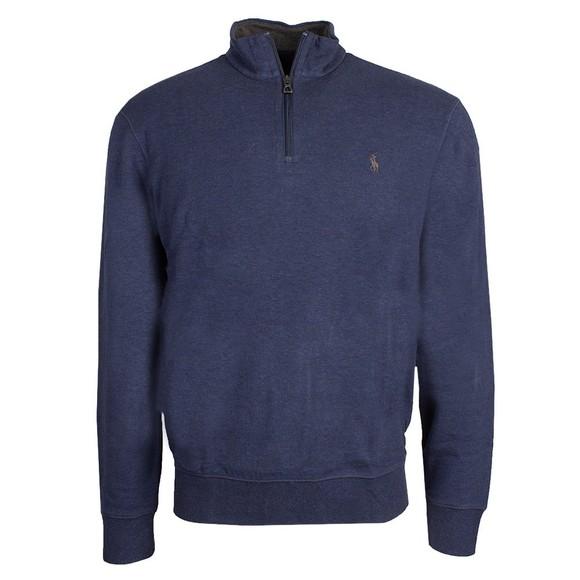 Polo Ralph Lauren Mens Grey Luxury Jersey Half Zip Sweatshirt