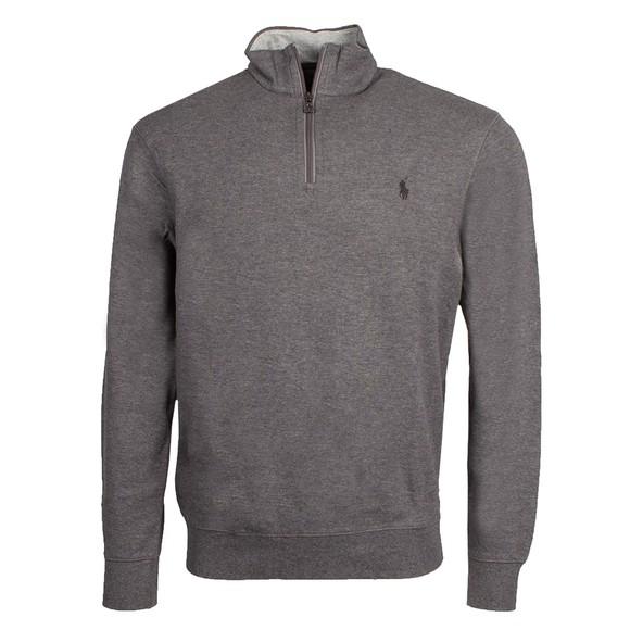 Polo Ralph Lauren Mens Blue Luxury Jersey Half Zip Sweatshirt