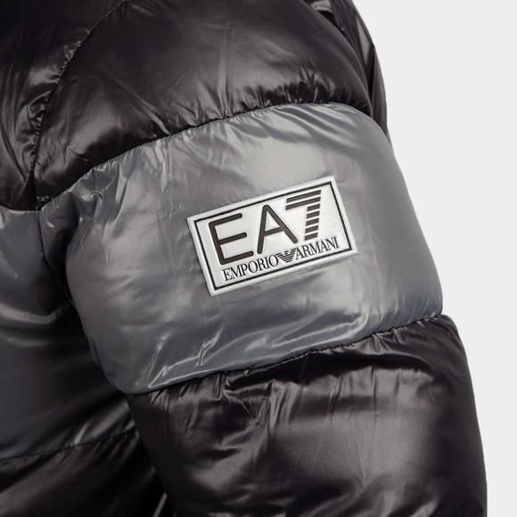 EA7 Emporio Armani Mens Black Hooded Bomber Jacket main image