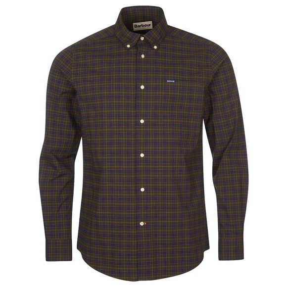 Barbour Lifestyle Mens Green Lomond Tailored Shirt