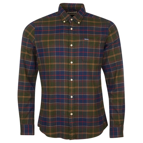 Barbour Lifestyle Mens Green Kyeloch Tailored Shirt